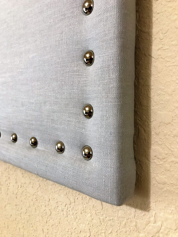 Large 17 X 23 Gray Linen Fabric Corkboard Linen Bulletin Board