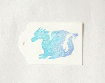 DRAGON favour tags, dragon party Dragon gift tags, dragon thank you tags, favour bag tags, game of thrones party X 10