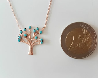 Life Tree Necklace 925 Sterling Silver Rosé * * NEW to Outlet * *