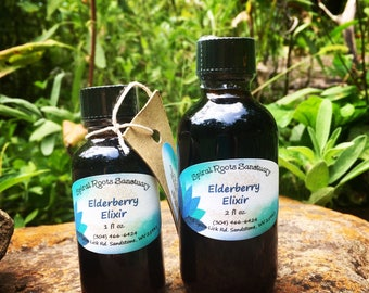 Elderberry Elixir- Organically Sourced & Wildcrafted Ingredients!