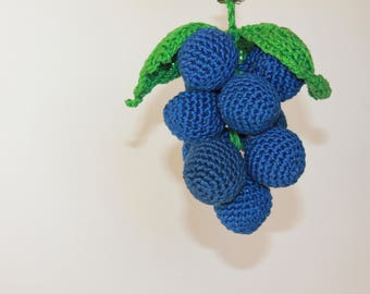 Crochet Vegetables Grapes Toy Amigurumi Grapes Sensory Toys Play Food Kitchen Decoration Eco-friendly Toys  Birthday Gifts Fruits