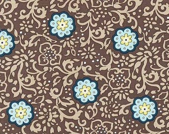 MM Brown Ring Around the Posy, SG6234-BROW-D , Michael Miller Fabric