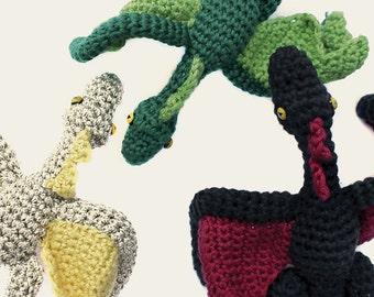 Daenerys Dragons - Game of Thrones. Amigurumi Pattern PDF, DIY, Crafts, Crochet Pattern, Animal Doll, Geek, Gift, TV Serie, Instant download