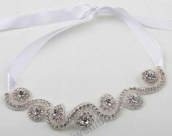 1 pcs Rhinestone Headband, Wedding Headband, Bridal Headband, Baby Headband
