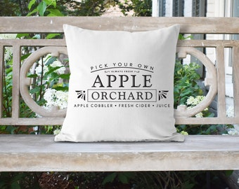 Apple Orchard Farmhouse 18x18 Pillow//Custom Pillows//Housewarming Gifts//Pillow Cover//Throw Pillow//Farm House Pillow Cover