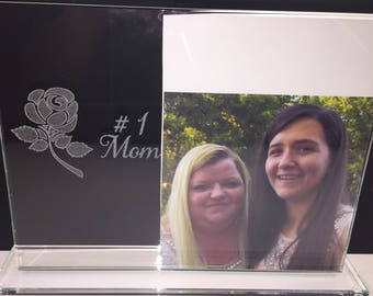 Glass #1 Mom Picture Frame