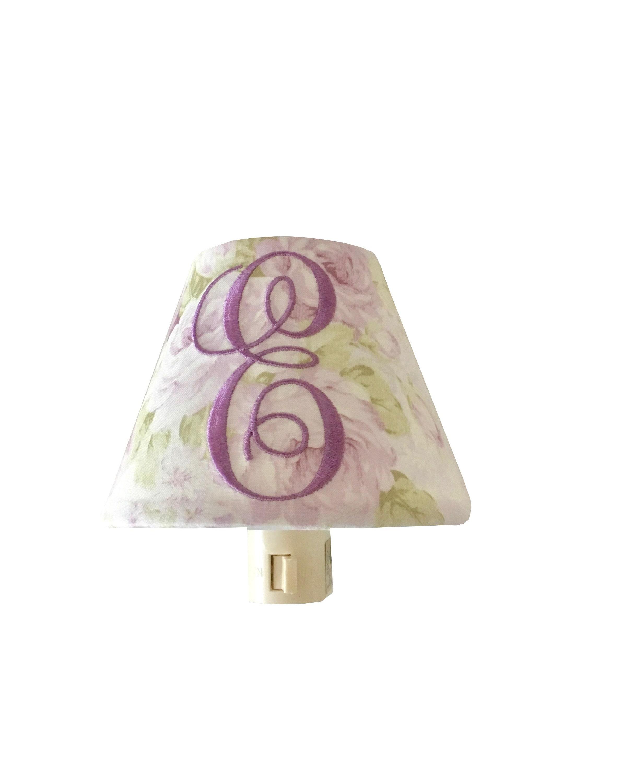 Lavender shabby cottage chic floral night light purple floral lamp lavender shabby cottage chic floral night light purple floral lamp shade kids room nursery night light girl bedroom monogrammed night light aloadofball Gallery