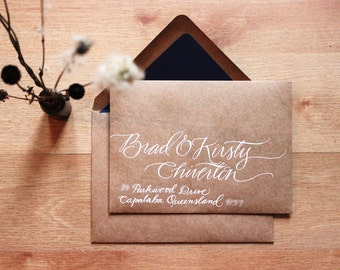 Woodland Wedding Custom Hand Written Address Envelopes