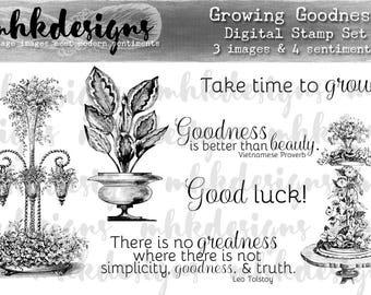 Growing Goodness Digital Stamp Set