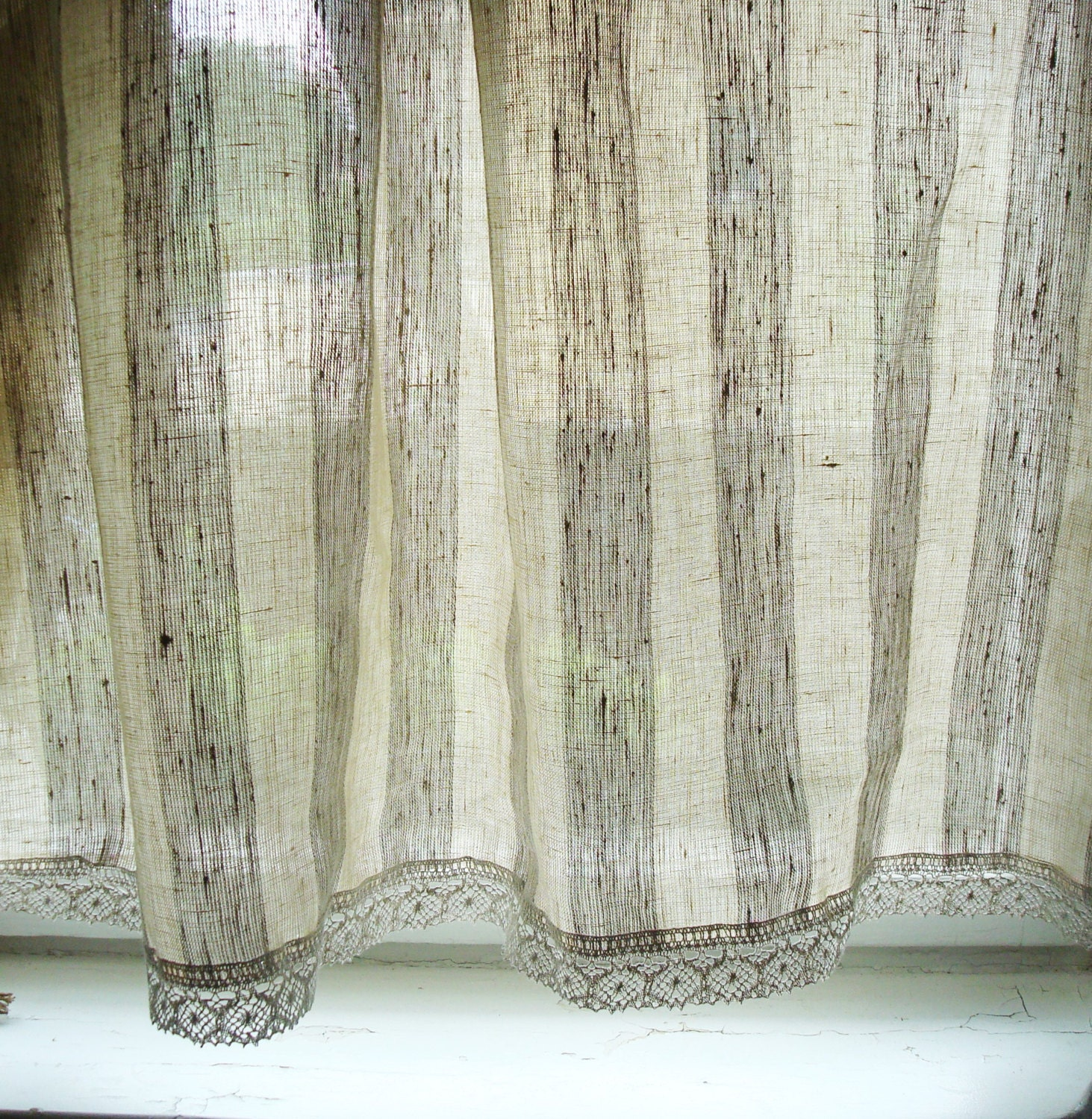 unlined retro french kitchen richloom design linen cafe vintage tiers product bird curtains