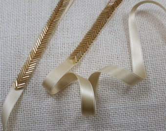 Bridal Belt, Skinny Gold Belt, Thin Gold Bridal Sash, Gold Beaded Belt,   Wedding Belt, Bridal Gown Accessory, Best Friend Bridal188G