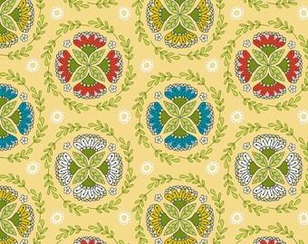Dutch Treat - Dutch Wreath Yellow - 1 YARD - Betz White for Riley Blake C5282-YELLOW