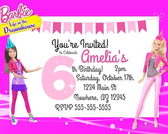 Barbie Printable Invitation