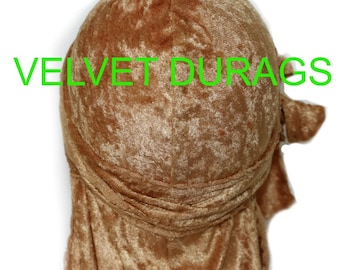 Gold Velvet Durags (WHOLESALE)