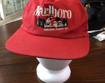 Marlboro Racing Team red hat cap 1992