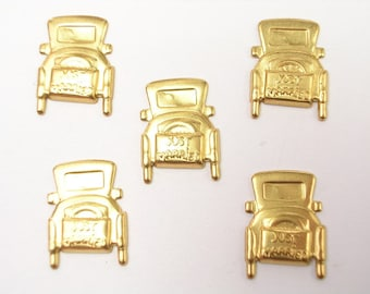 LOT 5 METALS CHARMS Gold: car old 14 mm