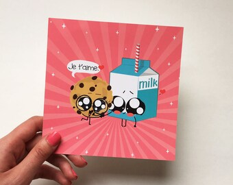 Kawaii Valentine love card