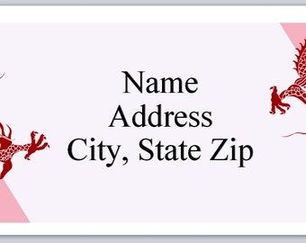 30 Personal Return Address Labels Dragons (p 436)