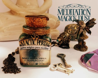 Meditation Magick Dust *Galactic Portal* Witchcraft - Frankincense, Myrrh, Chamomile & Sodalite crystals