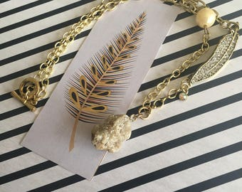 Gold Nature Necklace