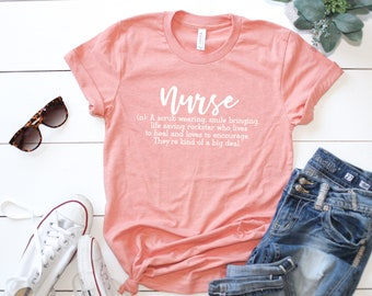 Nurse Definition Shirt | Nurse Shirts | Graphic Tee | Nurse Gifts | Nurse Life | Tshirt | Gift for Her | Gift for Wife | Mom Gifts