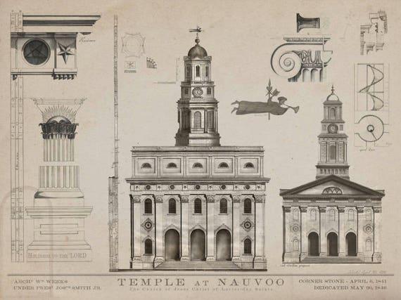 Nauvoo temple blueprints 1840 drawings of nauvoo lds blue te gusta este artculo malvernweather Gallery
