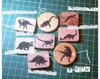 3 Dinosaur Brooches
