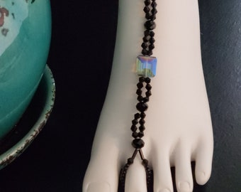 Beaded Barefoot Sandals Handmade Womens Jewelry Glass Crystal Beads Beach Summer Shoes Gift