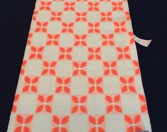 Japanese orange wool kimono fabric, sold by the metre, width 36.5cm, Japan import