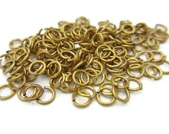 5mm Brass Open Jump Rings 20 gauge, 200pcs