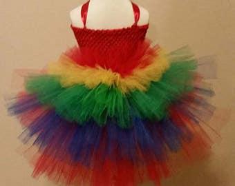 Macaw Parrot Tutu Bustle Dress