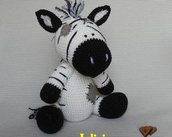 Crochet Zebra like a Chip the Zebra, Blue Nose Friends. crochet PDF pattern