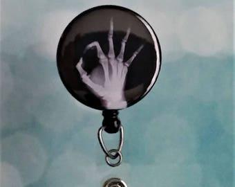 Id Badge Reel XRay Tech Badge Reel  Retractable Badge Reel Id Holder Radiologist Badge Reel