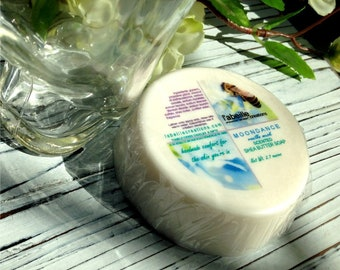 L'abeille Creations shea butter soap in 2.6 round bars in various fragrances as well as unscented