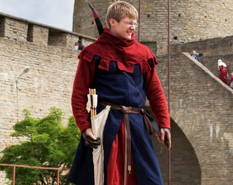 Medieval Men's Surcoat (13-14c Europe)/ Сюрко мужское (13-14вв, Европа)