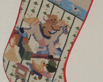Needlepoint BABY Christmas Stocking