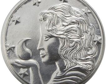 Fine Silver Tar Valon Mark  on Amyrlin letter, Wheel of Time officially licensed merchandise.