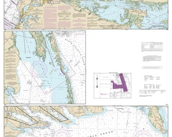 Cape Henry and Pamlico Sound 2017p0 Old Map Nautical Chart - North Carolina -Reprint AC Harbors 129