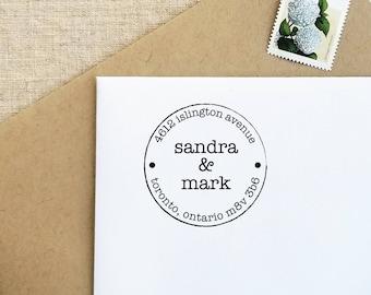 Custom Address Stamp | Return Address Stamp | Engagement Gift | Self Inking  Address Stamp | Family Stamps | RAS 57