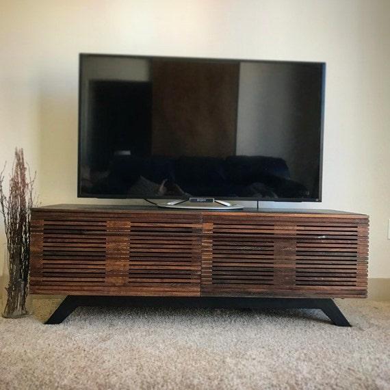 mid century modern tv console tv stand tv unit. Black Bedroom Furniture Sets. Home Design Ideas