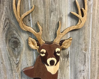 Deer Intarsia Whitetail Buck Head