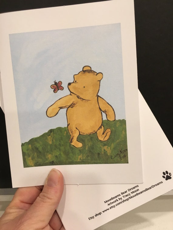 Good luck card just because classic winnie the pooh greeting good luck card just because classic winnie the pooh greeting card thinking of you miss you sorry get well baby shower m4hsunfo
