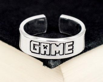 Game Ring - Video Game Jewelry - Pixel Ring