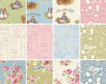 Anne of Green Gables Fabric BUNDLE ~ Fat Quarter or Half Yard ~ Penny Rose 100% Cotton Fabric