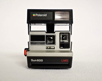 Polaroid Sun 600 LMS Instant Camera in Tested Working Condition with Original Box: 1980s