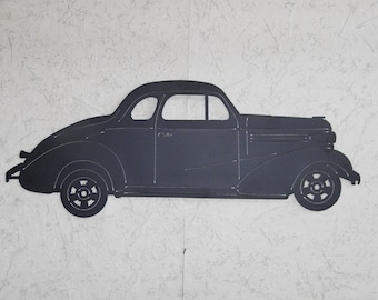 1938 Chevy Coupe metal art