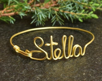 Name Bracelet, Custom Bracelet, Handmade Customized Bangle, Name Bangle, BRACCIALE COL NOME, Personalized Jewelry, personalizzato