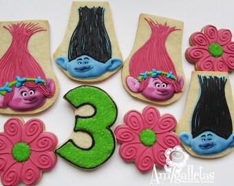 Trolls Cookies - 1 dozen