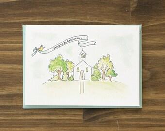 wedding chapel congratulations card
