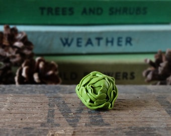By the Shed Lettuce Pin Badge - Lapel Badge - Tie Pin - Green Salad Lunch Jewellery - Fruit - Gardening - Allotment - Leafy - Vegetable Plot